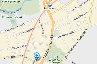Нарвская улица на карте